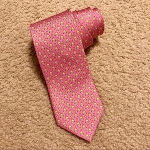 Salvatore Ferragamo Pink Lion Silk Tie